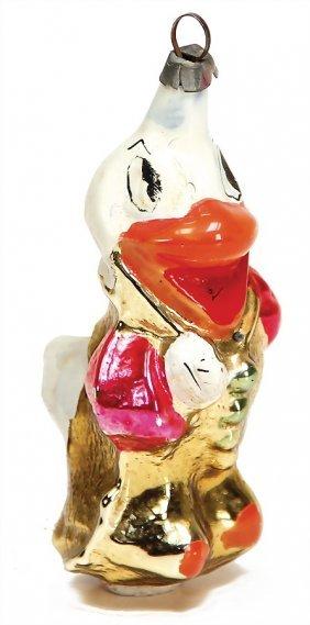 Christmas Tree Decoration, Glass, Donald Duck, 9.5 Cm