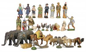 Nativity Figures, Elastolin And Others, Mass, Figures