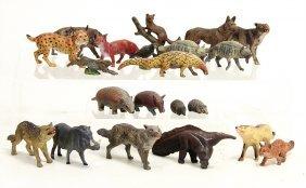Konv. Wildtiere, Gürteltier, Nasenbär, Wolf,