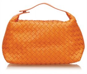 Bottega Veneta Damenhandtasche, Orange, U.a. Leder,