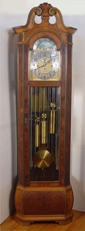 165 Herschedes Nine Tube Grandfather Clock Lot 165