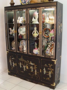 height kitchen cabinets 142 black lacquer china cabinet lot 142 16252