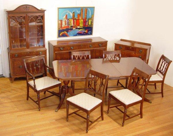 5 mahogany 10 piece dining room set lot 5