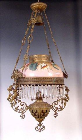 57a Mid 19th Century John Scott Hanging Oil Lamp Lot 57a