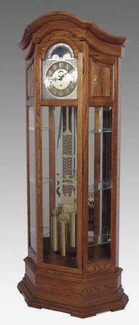 150 Howard Miller Majestic Curio Grandfather Clock Lot 150