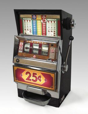 343 Bally Model 1088 25 Cent Slot Machine Lot 343