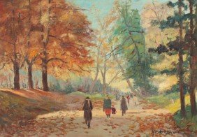 GORDIGIANI CENTRAL PARK PAINTING
