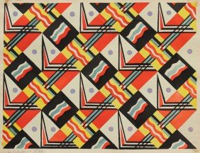 GEOMETRIC PATTERN SIGNED LE CORBUSIER '39