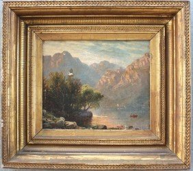 GOOD 19TH C. LANDSCAPE PAINTING LEROUX?
