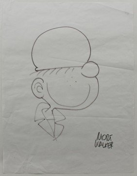MORT WALKER BEETLE BAILEY ILLUSTRATION
