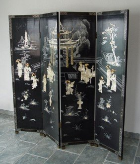 INLAID CHINESE COROMANDEL SCREEN
