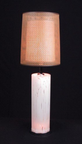 MURANO GLASS & CHROME TABLE LAMP