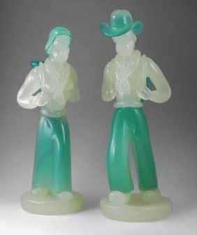 17''t. BAROVIER & TOSO MURANO GLASS PEASANT FIGURE