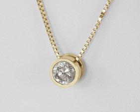 1.12 CT DIAMOND PENDANT NECKLACE 14K GOLD