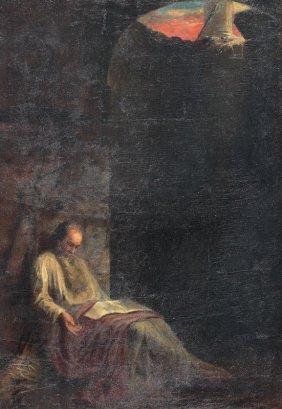 IMPORTANT ECONOMOU? GREEK PAINTING ST PAUL