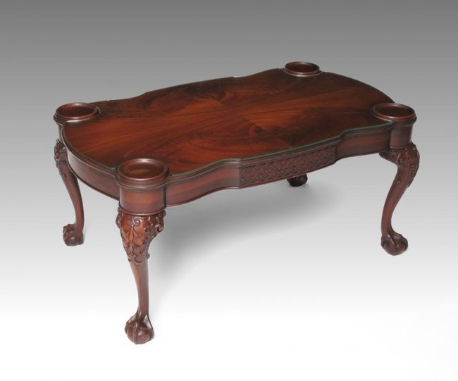 238b mahogany ball and claw foot coffee table lot 238b. Black Bedroom Furniture Sets. Home Design Ideas