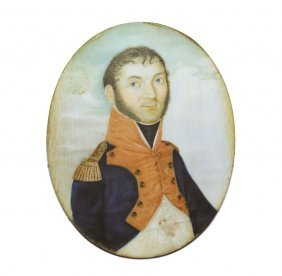 IVORY MINIATURE PORTRAIT PAINTING  FRENCH OFFICER