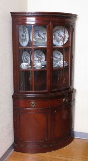 141 drexel travis court mahogany corner cabinet lot 141. Black Bedroom Furniture Sets. Home Design Ideas