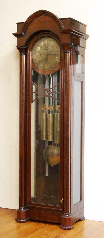 Jacques Mahogany 6 Tube Grandfather Clock Lot 1060a