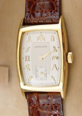 425a Masonic Wrist Watch By Hamilton Gentleman S Quart