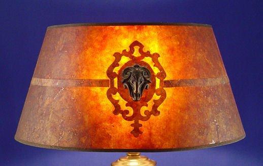 1380 vintage mica lamp shade lot 1380. Black Bedroom Furniture Sets. Home Design Ideas