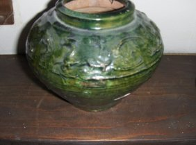 Chinese Han Dynasty Green Vessel