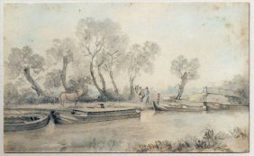 John Contable Drawing Of River Stour