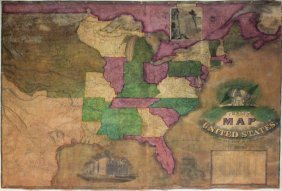 Phelps' Map Of The United States, 1834