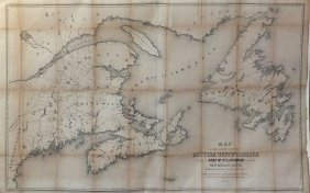 Perley Lithograph Map Of East Coast Of Canada