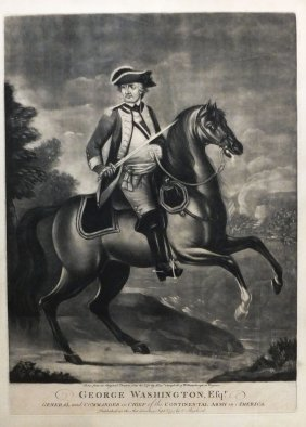 Lithograph Of George Washington, C. 1775
