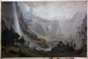 Bierstadt Chromolithograph Of Yosemite