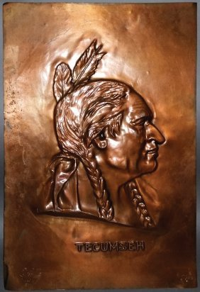 Tecumseh Copper Relief Portrait Plaque