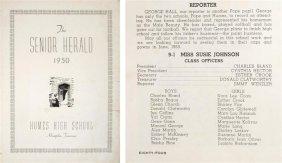 Elvis Presley's High School Year Book, The Herald,