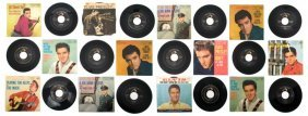 A Collection Of Twenty-Nine 1950s Elvis Presley 45rp