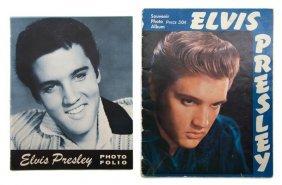 A Group Of Two Elvis Presley Souvenir Tour Photo Fo