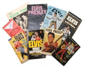 A Group Of Eight Books Pertaining To Elvis Presley,