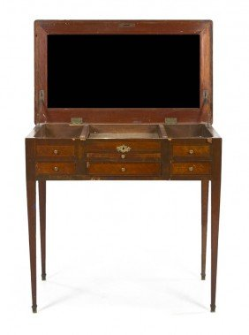 A Louis XVI Style Parquetry Poudresse, Height 29 7