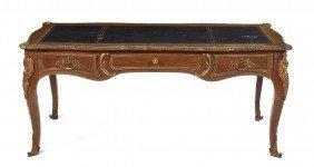 A Louis XVI Style Gilt Bronze Mounted Bureau Plat,