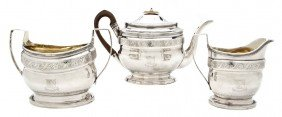 An English Silver Tea Service, Robert Hennell, Wid