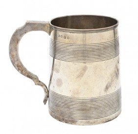 An English Silver Mug, Stephen Adams II, Height 5