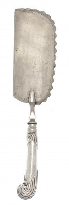 An English Silver Crumber, John Newton Mappin, Wid