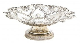 An English Silver Footed Compote, William Devenpor