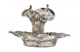 An English Silver Pierced Bonbon Dish, George Nath