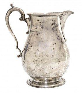 An English Silver Pitcher, Edward Barnard & Sons L