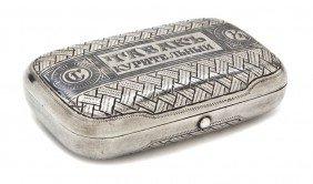 A Russian Niello Silver And Trompe L'oeil Decorat