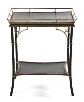 A Regency Style Painted Occasional Table, Height