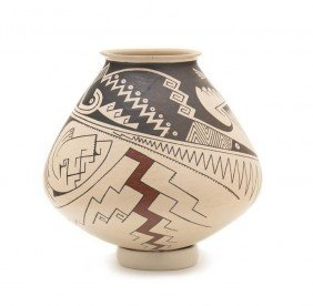 A Casa Grande Buff And Brown Polychrome Bowl, Heigh