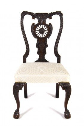 A Chippendale Style Side Chair, Height 40 1/2 Inc