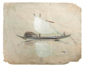 Ram Kumar, (Indian, B. 1924), Boat, 1998