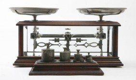 An American Cased Balance Scale, H. Troemner, Hei